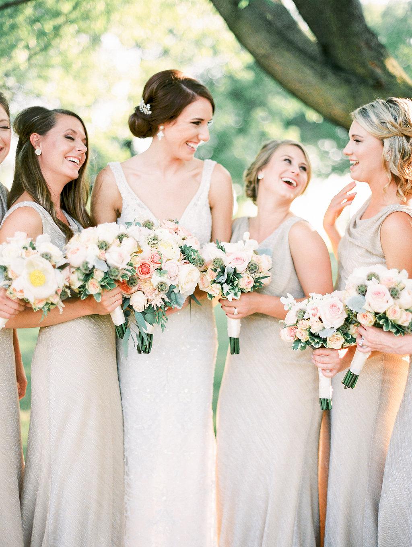 Nebraska Midwest Tent Wedding Bridesmaids