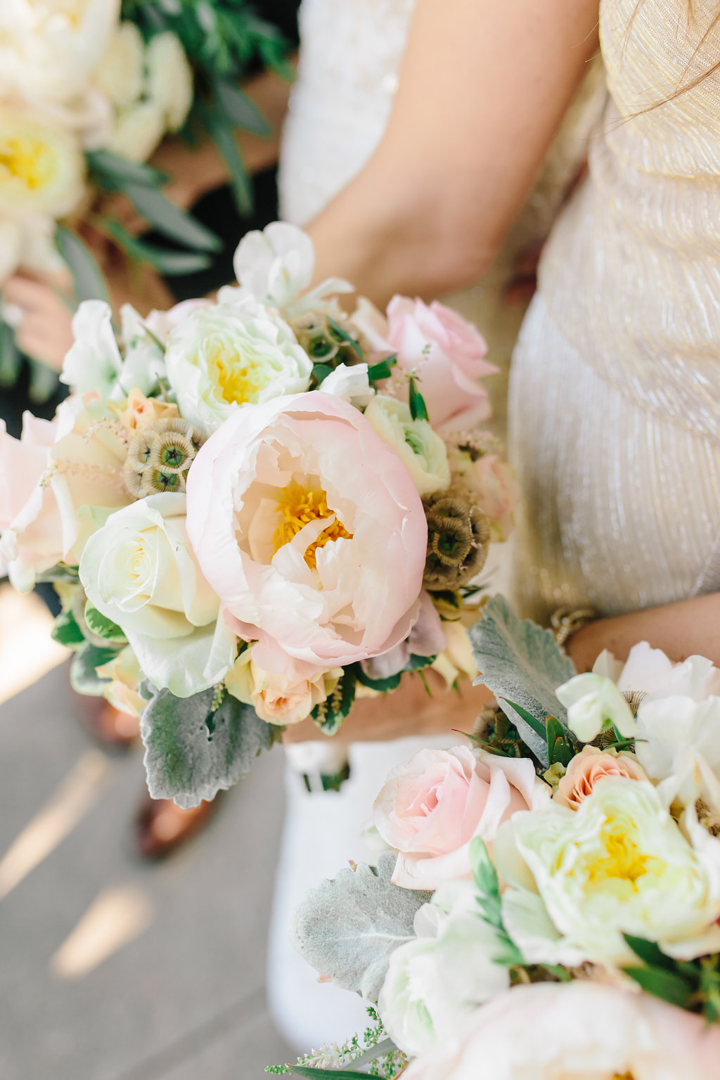 Nebraska Midwest Tent Wedding Bridesmaids Bouquets