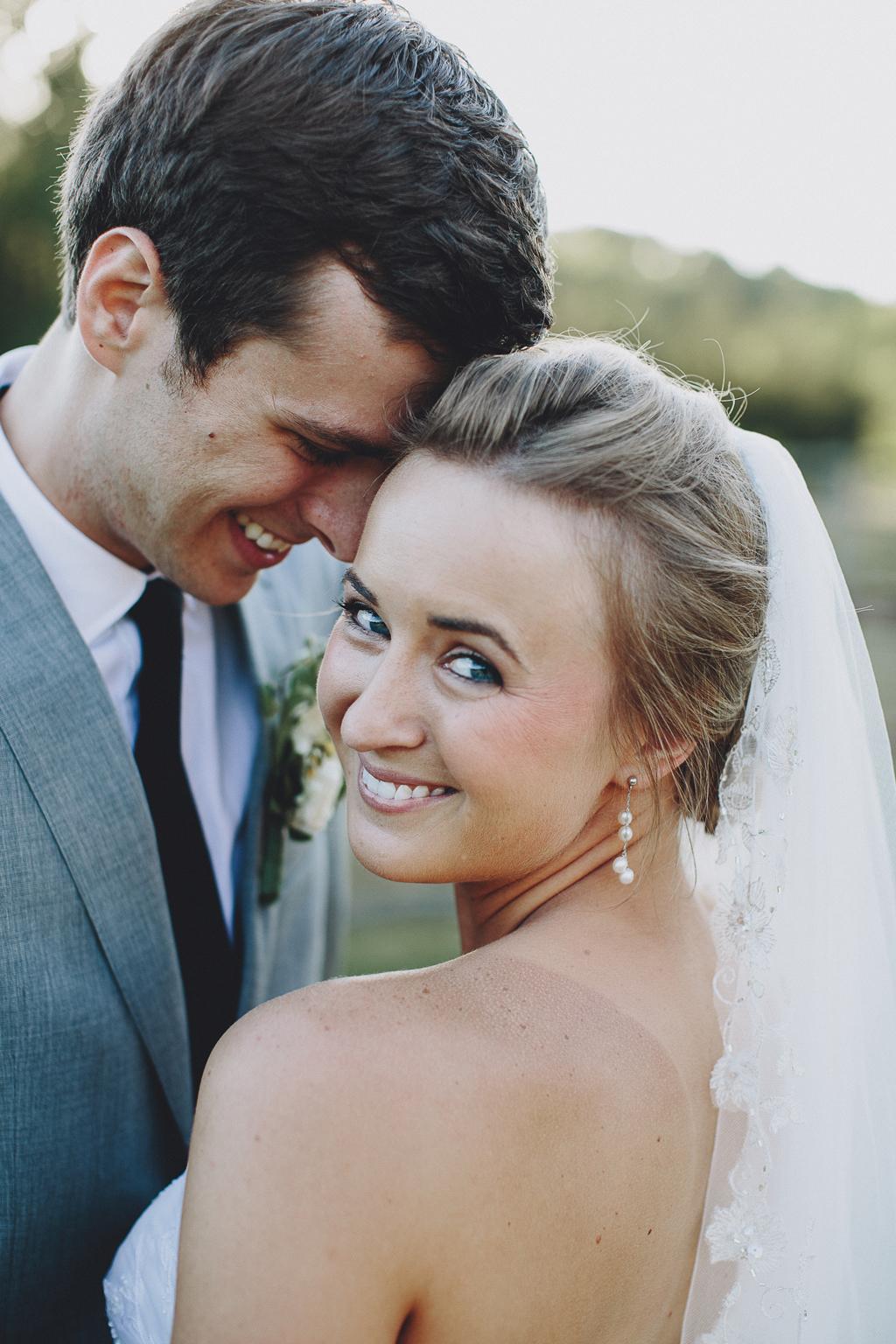 Nebraska Midwest Tent Wedding Bride and Groom