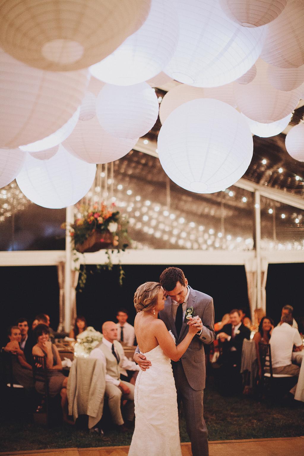 Nebraska Midwest Tent Wedding First Dance