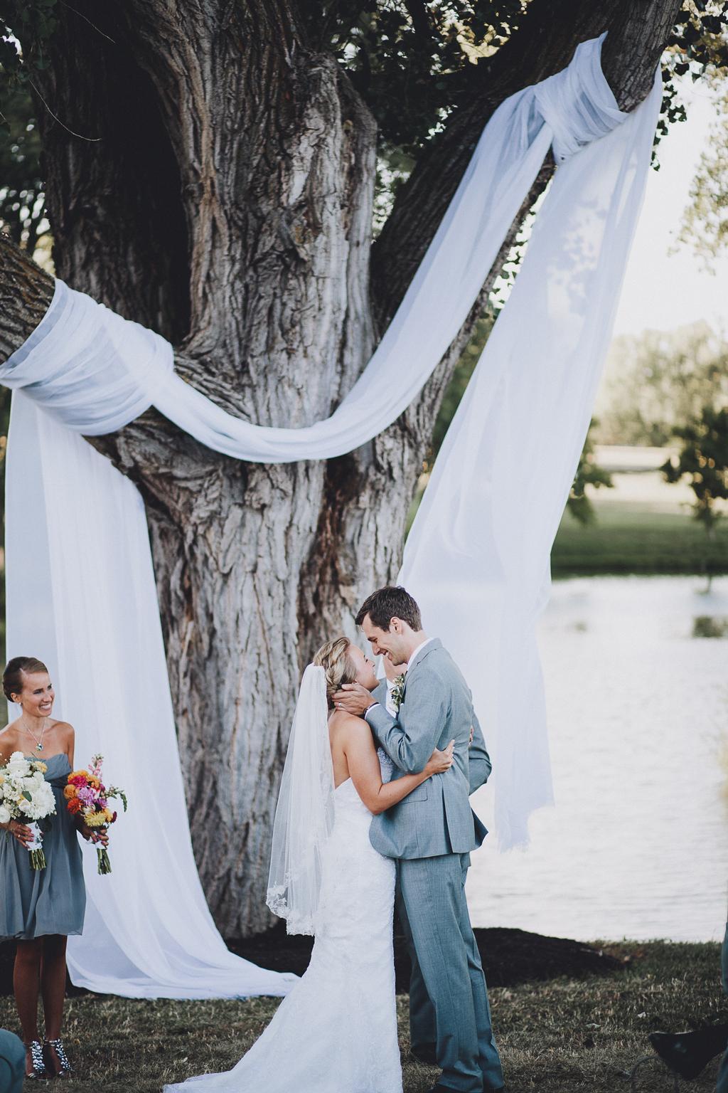 Nebraska Midwest Tent Wedding Ceremony Altar