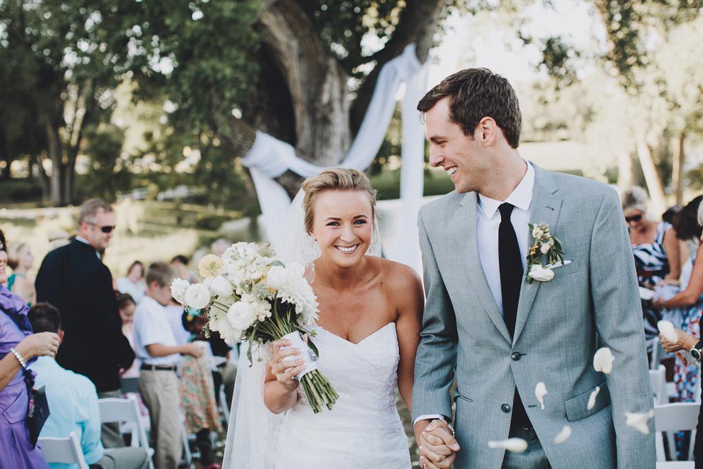 Nebraska Midwest Tent Wedding Ceremony Exit