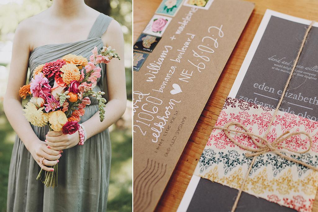 Nebraska Midwest Tent Wedding Bridesmaid Invitation