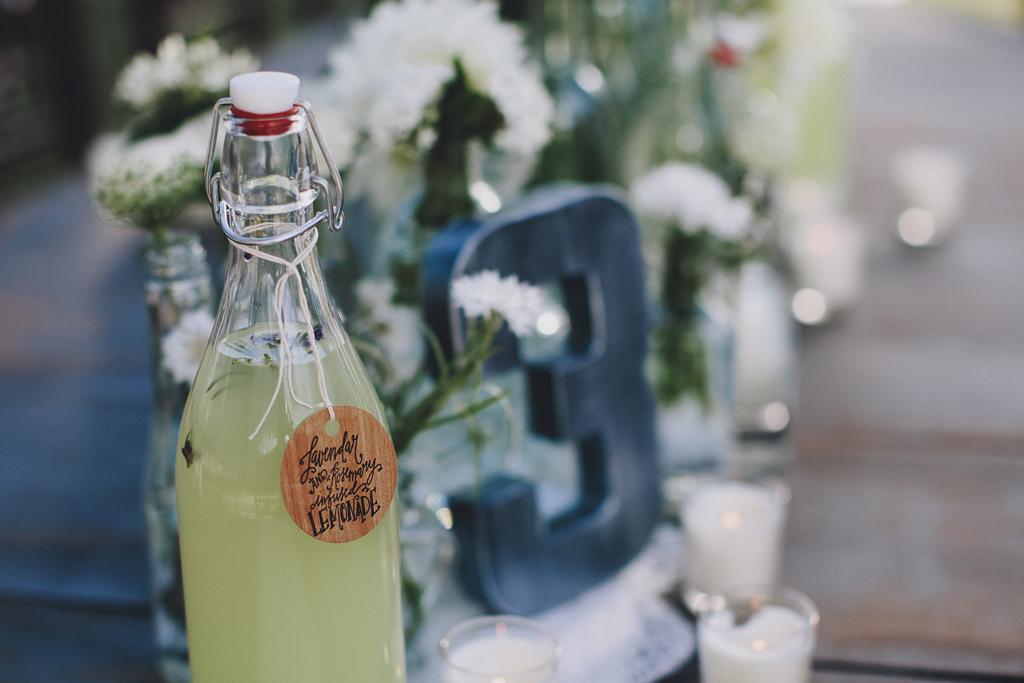 Nebraska Midwest Tent Wedding Lemonade Table Number