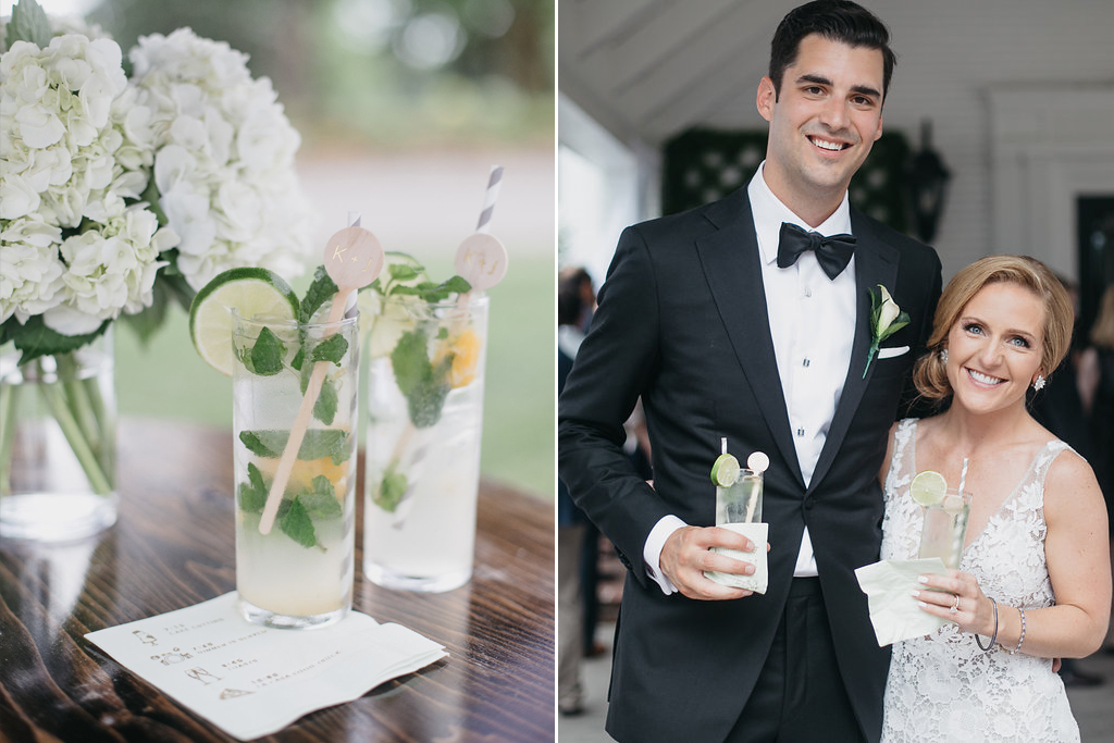 Happy Hollow Country Club Omaha Nebraska Midwest Wedding Mojito Signature Drink