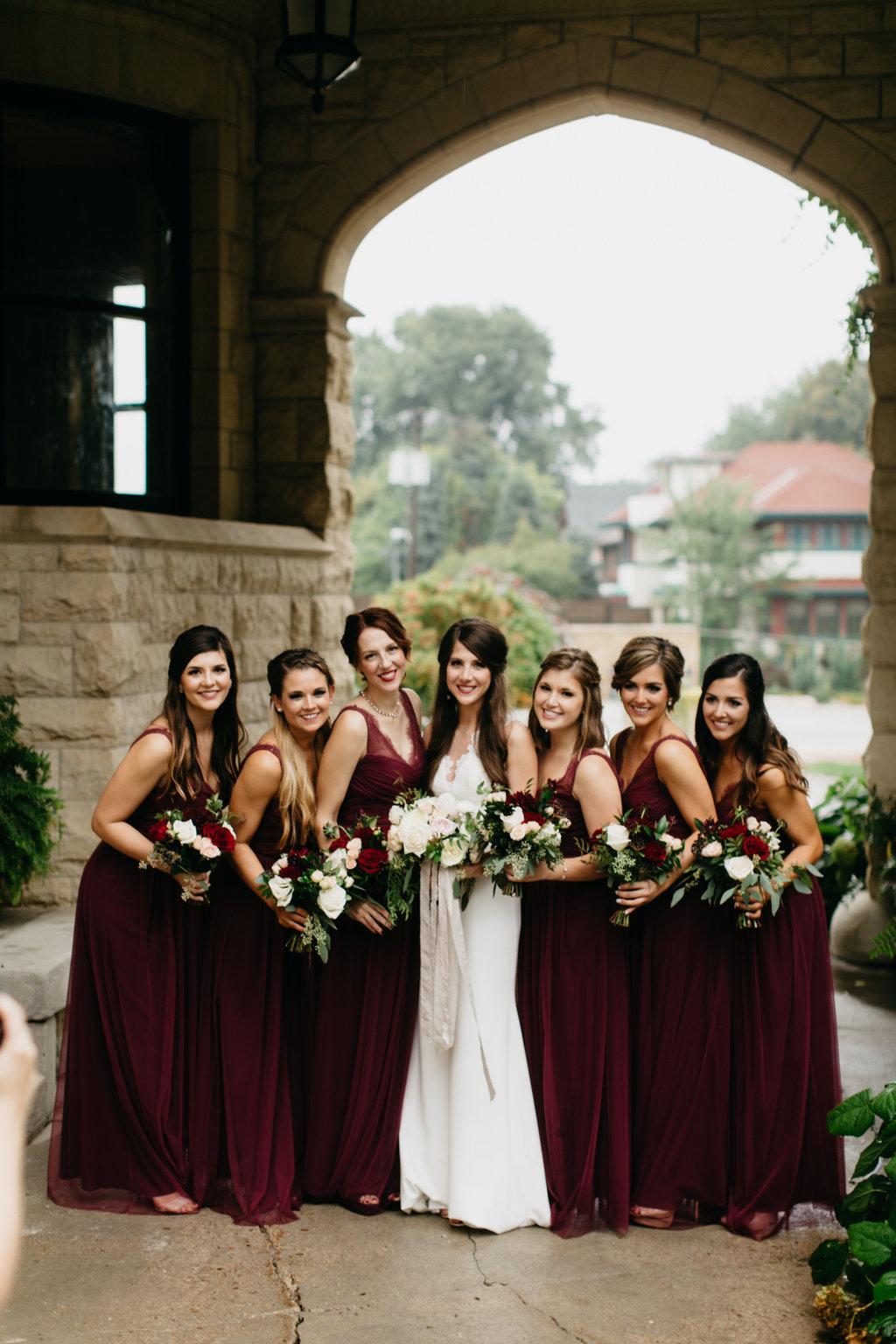 Paxton Ballroom Omaha Nebraska Midwest Wedding Bridesmaids