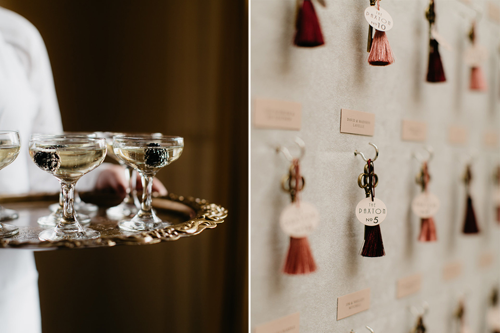 Paxton Ballroom Omaha Nebraska Midwest Wedding Signature Drink Escort Display