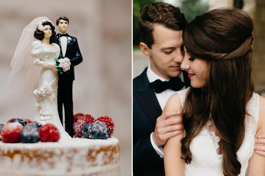 Paxton Ballroom Omaha Nebraska Midwest Wedding cake couple