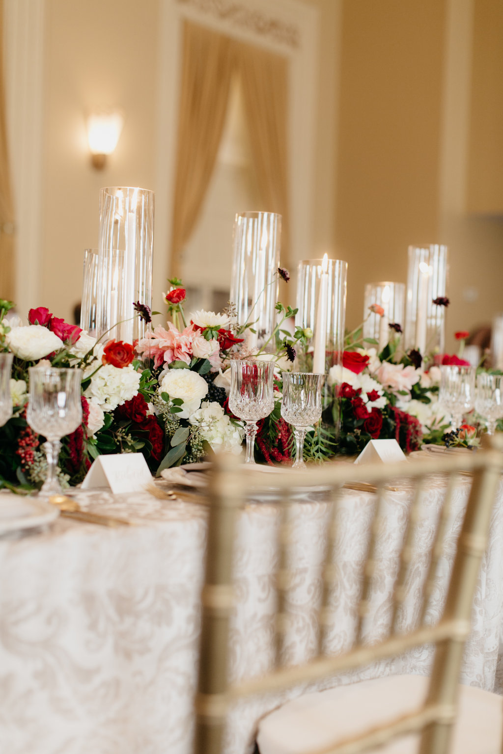 Paxton Ballroom Omaha Nebraska Midwest Wedding head table