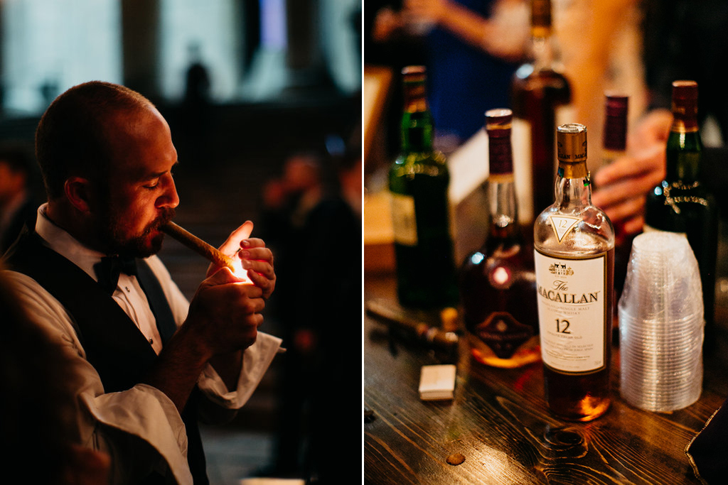 Joslyn Art Museum Omaha Nebraska Midwest Wedding Wedding Cigar Bar