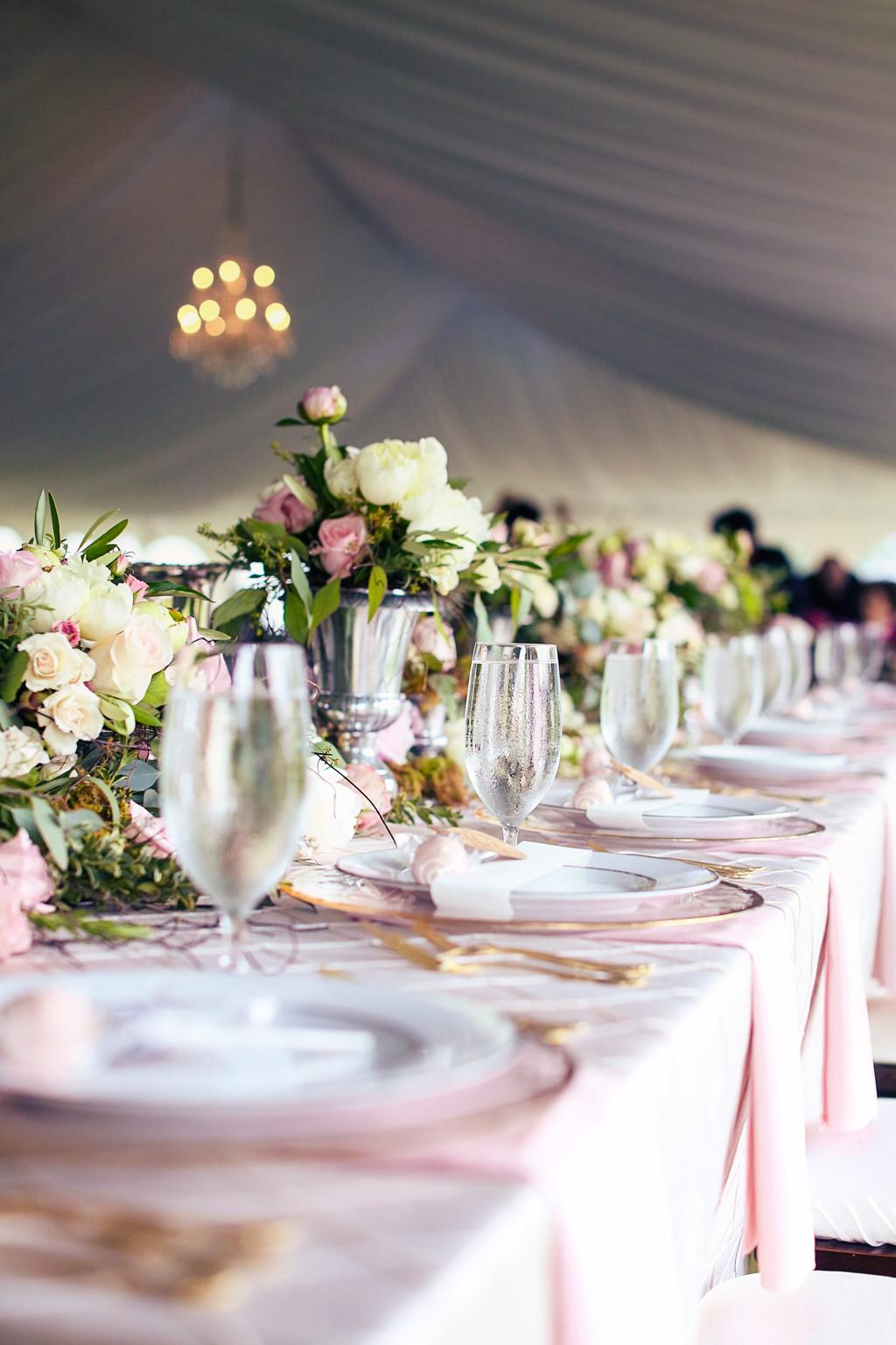 Nebraska Midwest Wedding Head Table