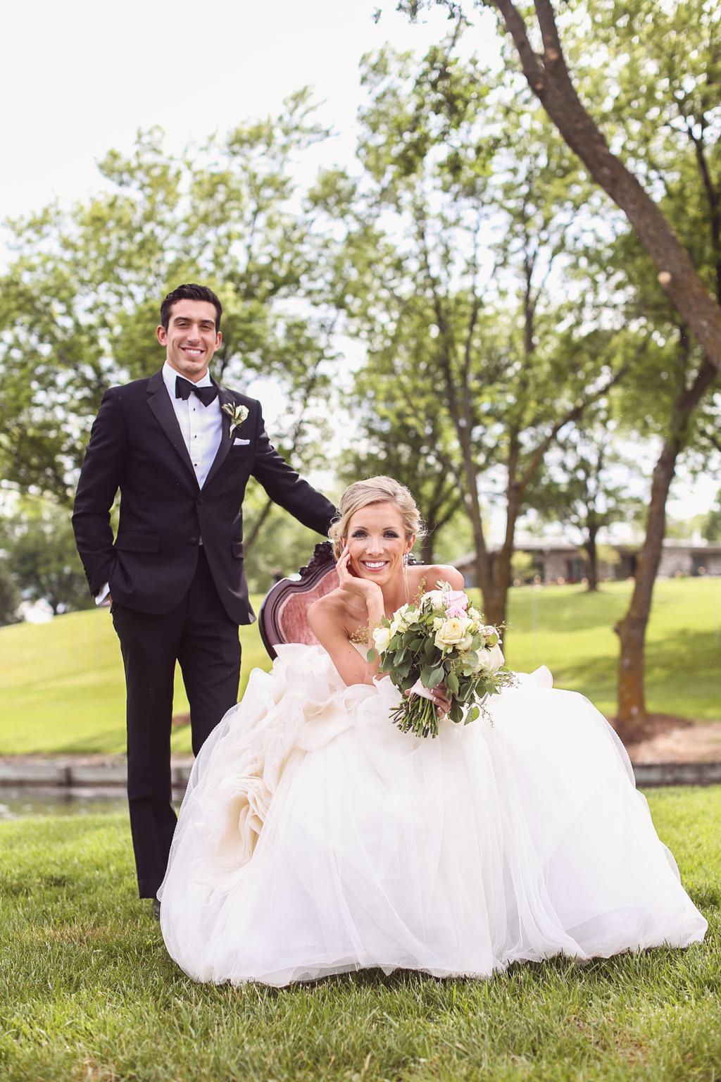Nebraska Midwest Wedding Bride and Groom