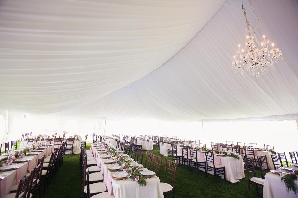 Nebraska Midwest Wedding Pleated Tent