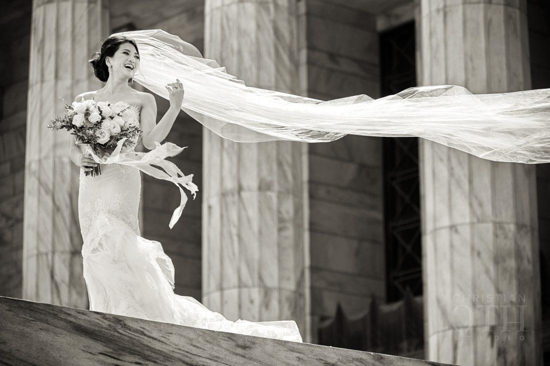 Joslyn Art Museum Omaha Nebraska Wedding Bride Veil
