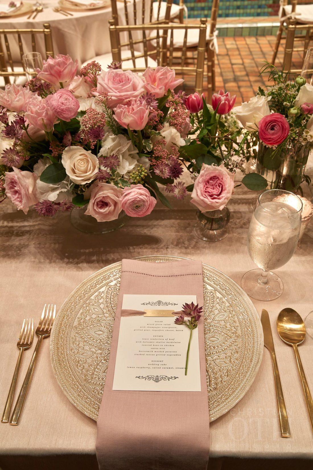 Joslyn Art Museum Omaha Nebraska Wedding Head Table Place Setting