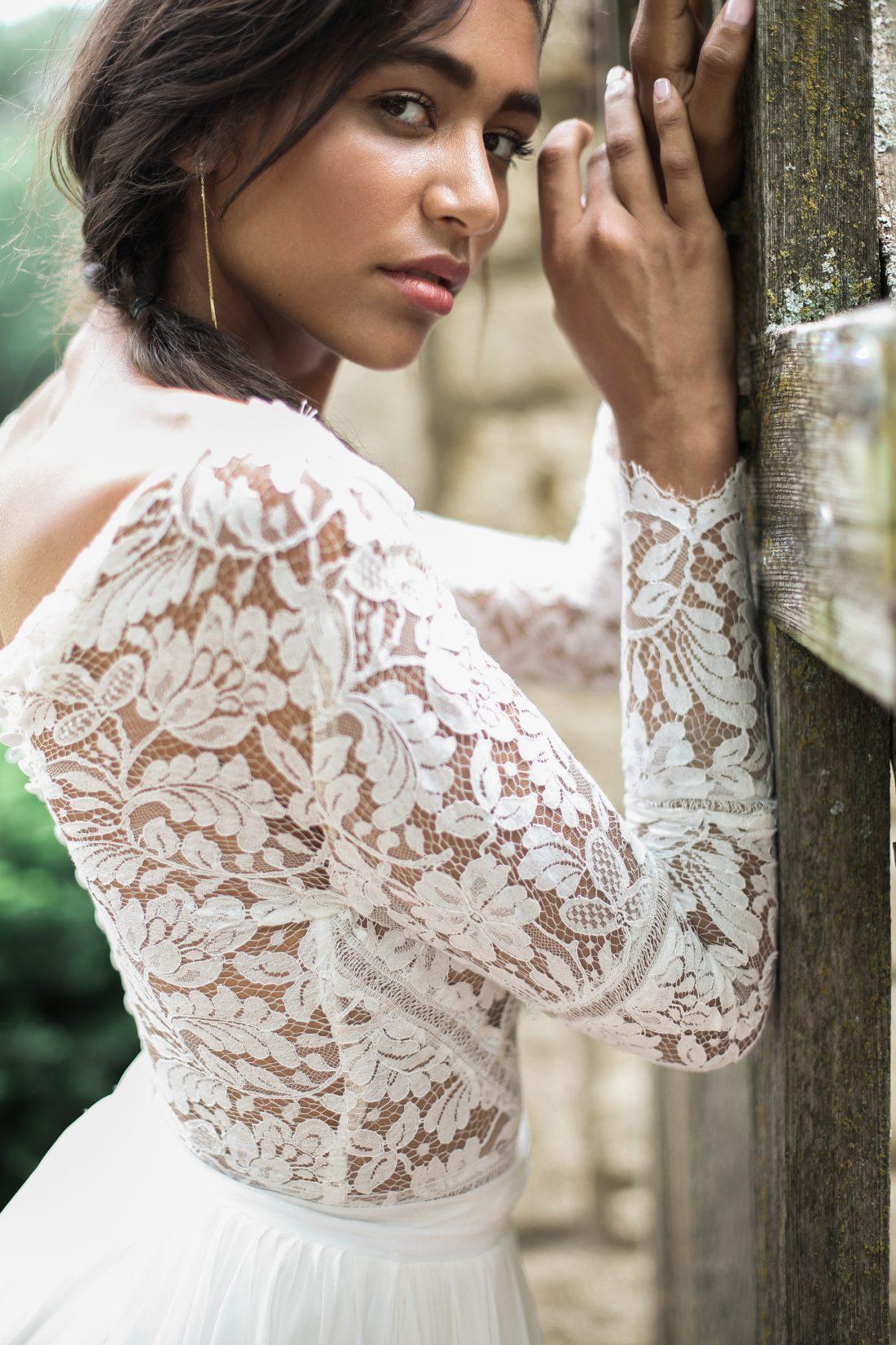 Mildale Farms Kansas City Wedding bride model shot