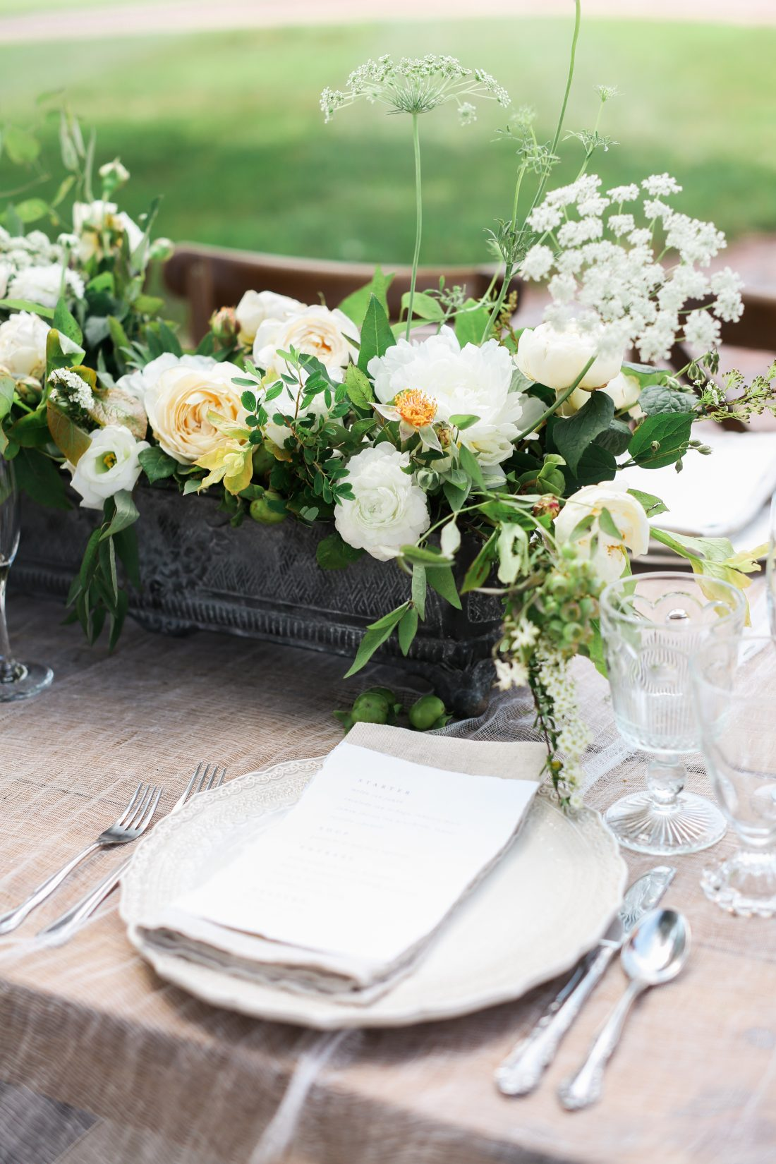 Mildale Farms Kansas City Wedding table place settings 2