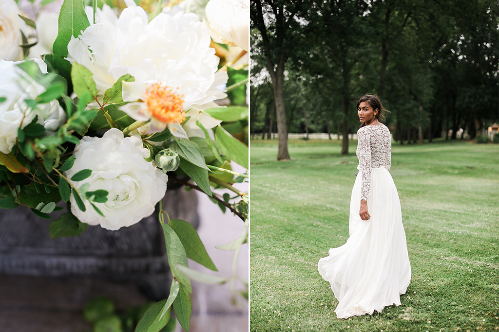 Mildale Farms Kansas City Wedding table flowers bride